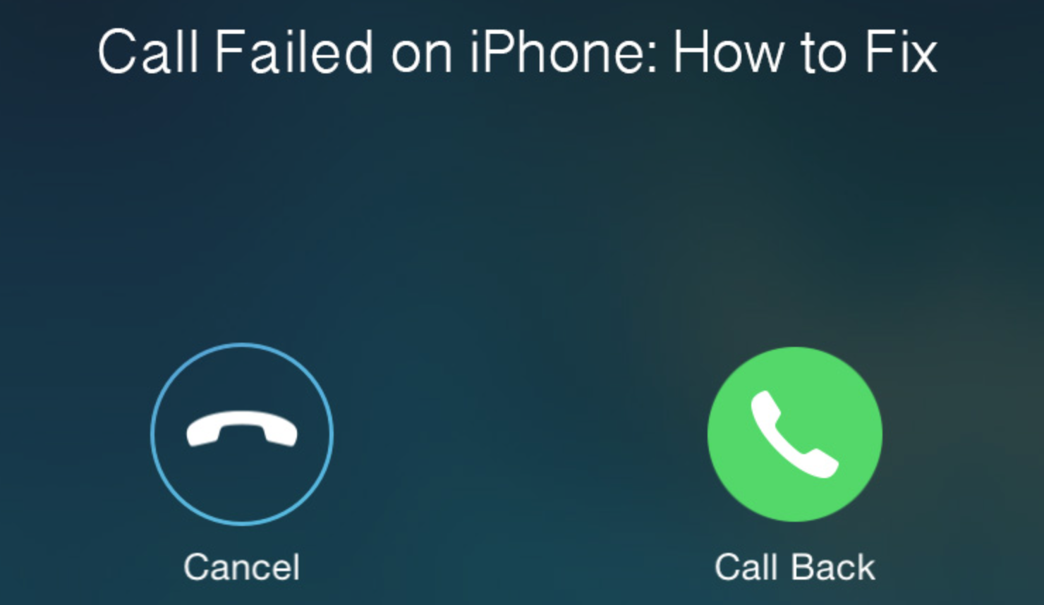 How to fix Call Failed Error on your iPhone (Step by Step Video)