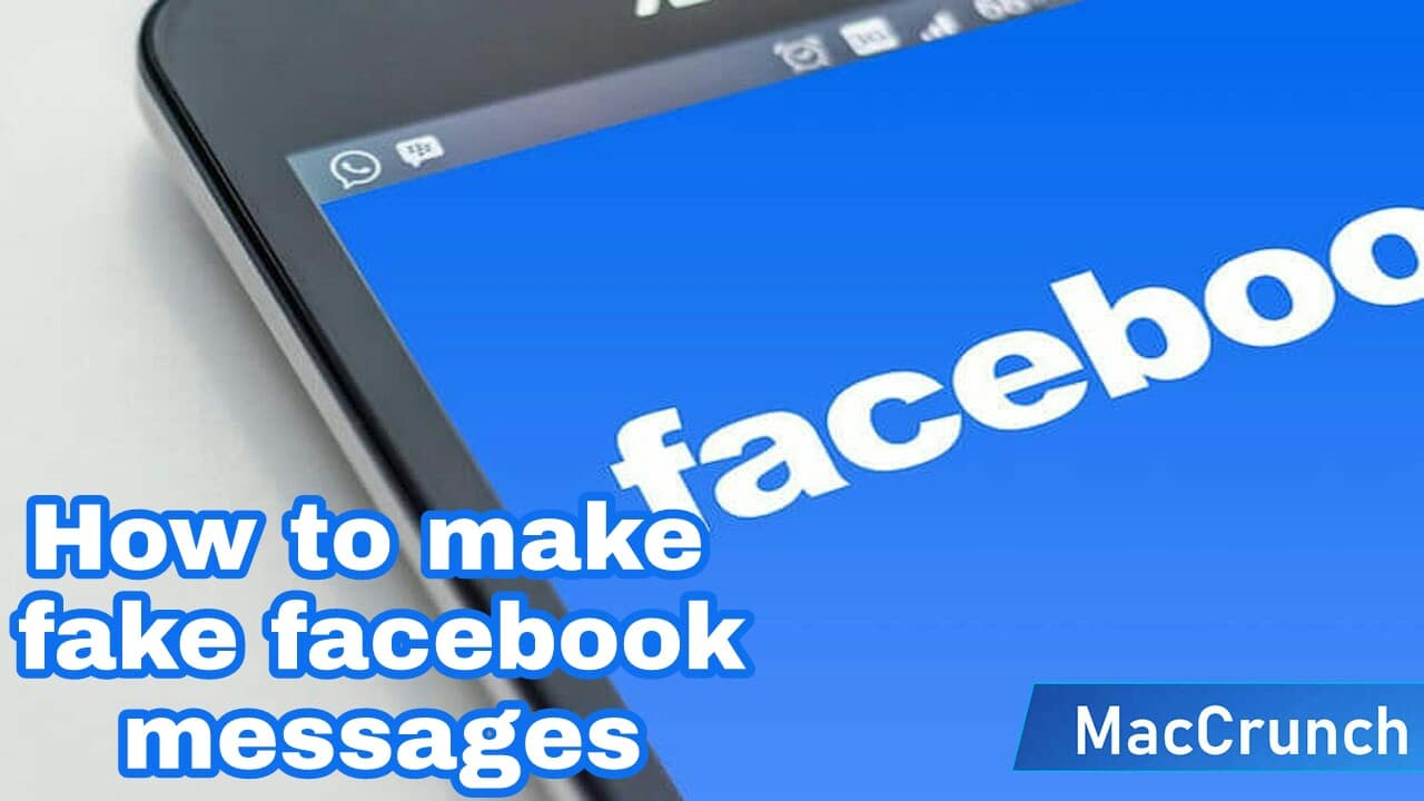 how to make fake facebook messages