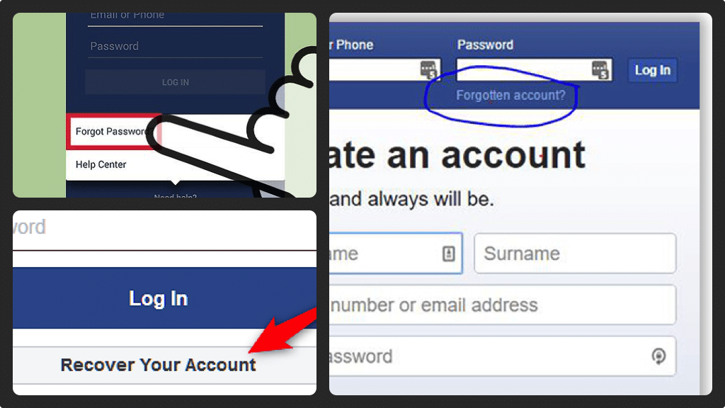 If you've forgotten your Facebook Password it is a breeze to get your account back with a brand new one